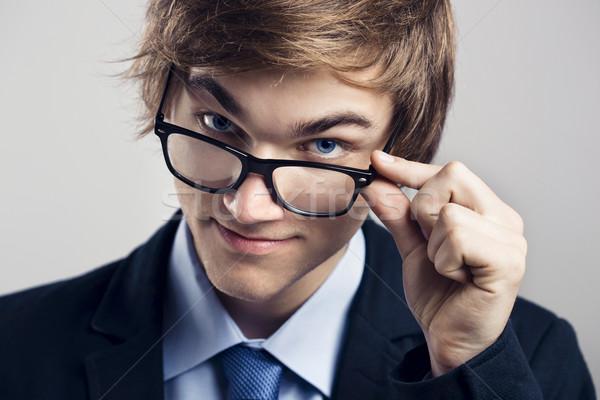 Homem de negócios óculos retrato bonito negócio Foto stock © iko