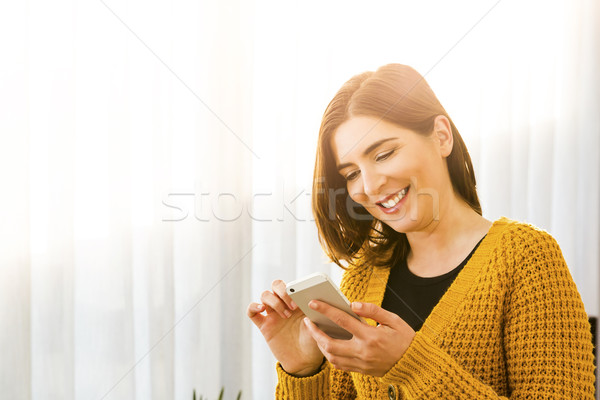 Texting a message Stock photo © iko