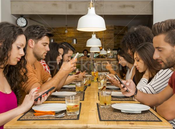 Social but not social Stock photo © iko