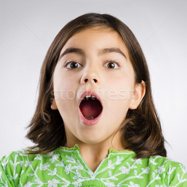 Astonished girl Stock photo © iko