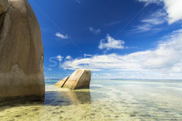 Source plage belle la île Seychelles Photo stock © iko