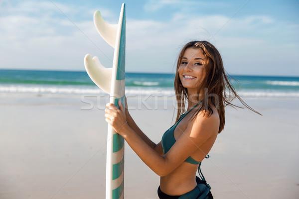 мне пляж доска для серфинга красивой Surfer Сток-фото © iko