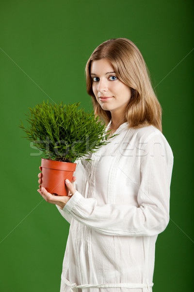 Ecologic woman Stock photo © iko