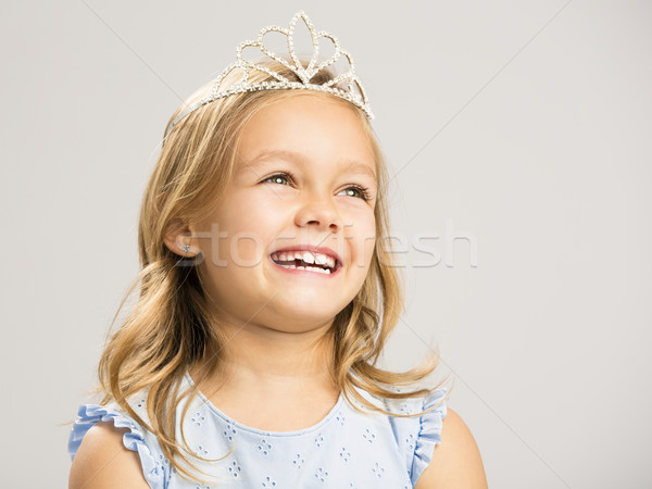 Cute little princess laughing Stock photo © iko