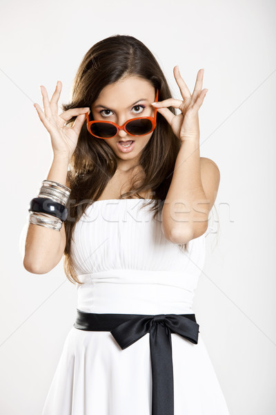 Girl with sunglasses Stock photo © iko