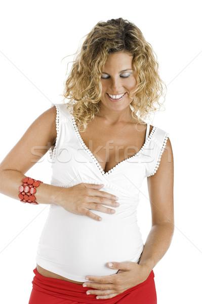 幸せ 妊婦 美しい 孤立した 白 家族 ストックフォト © iko