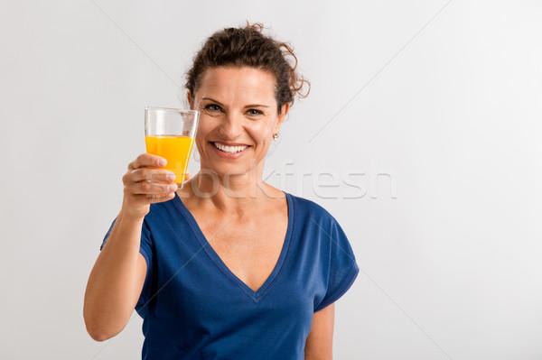 любви апельсиновый сок стекла Сток-фото © iko