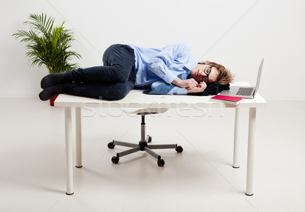 Alszik iroda fiatalember üzlet férfi munka Stock fotó © iko