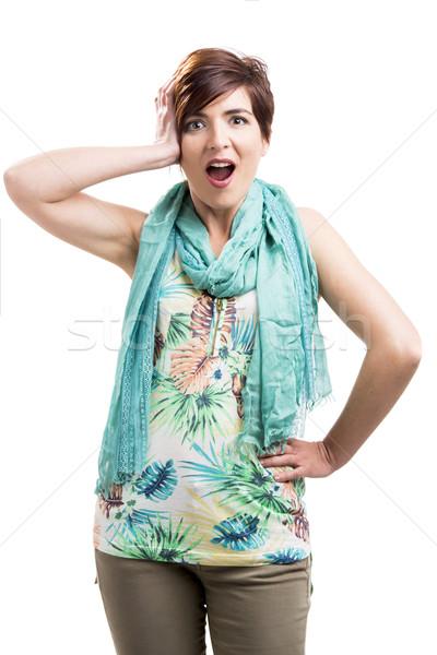 Admired woman Stock photo © iko