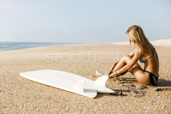 Сток-фото: готовый · поиск · красивой · Surfer · девушки · женщину