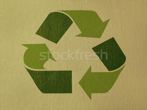 Reciclaje símbolo verde diseno pintura Foto stock © iko