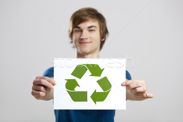 Recycle to a better world Stock photo © iko
