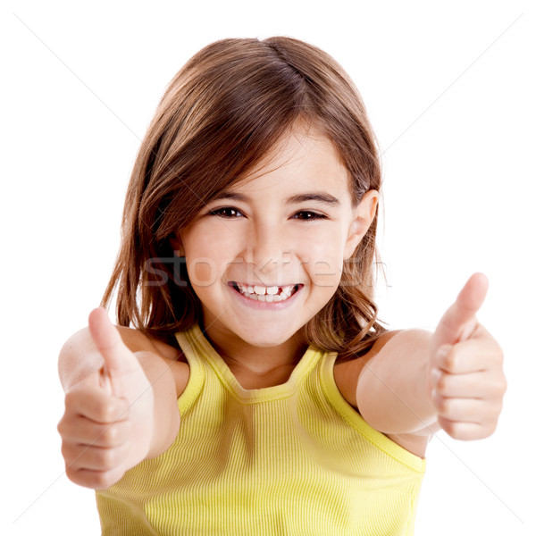Girl with thumbs up Stock photo © iko