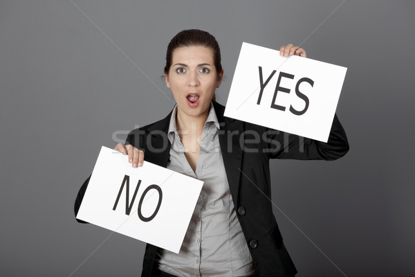 Yes or No choice Stock photo © iko