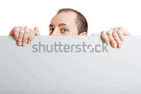 Businessman showing something Stock photo © iko