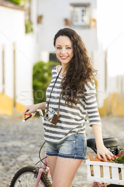 Stockfoto: Wonen · zoals · lokaal · mooie · vrouwelijke · toeristische