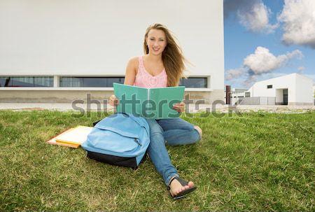 Tennage students Stock photo © iko