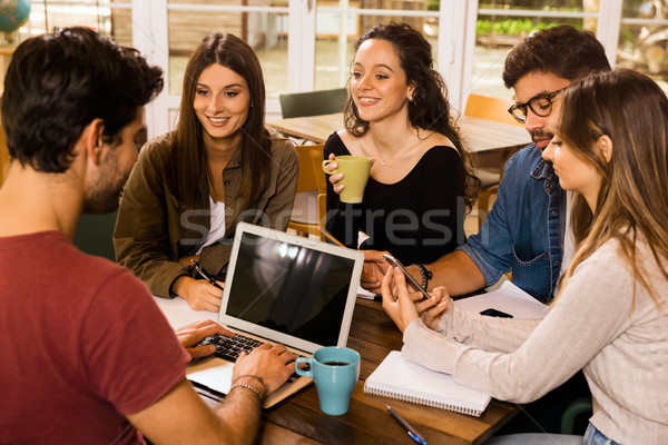 Friends studying together  Stock photo © iko