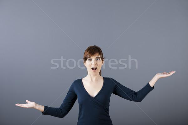 Woman making a scale Stock photo © iko
