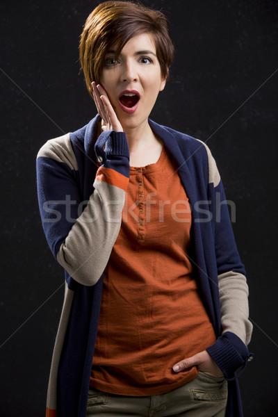 Astonished woman Stock photo © iko