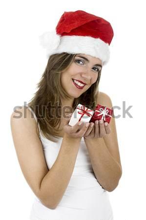 Noel kadın sezon farklı güzel bir kadın küçük Stok fotoğraf © iko