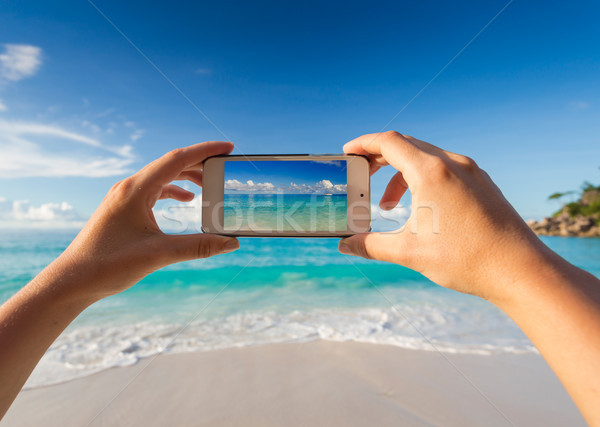 Taking a picture of the beach Stock photo © iko