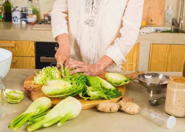 Cabbage kimchi and sauerkraut Stock photo © iko
