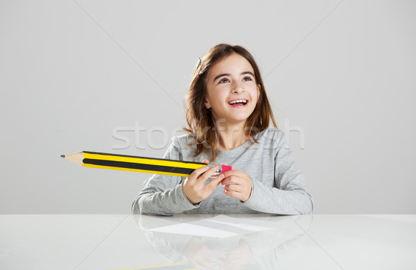 Little girl in the school Stock photo © iko