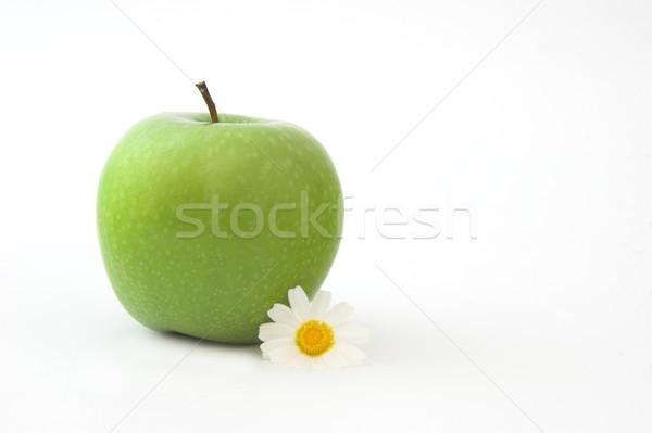Grenn Apple with a flower Stock photo © iko