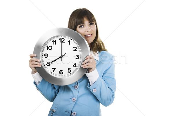 Clock Woman Stock photo © iko
