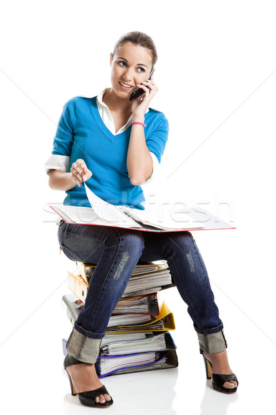 Beautiful female student Stock photo © iko