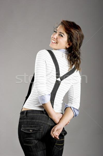 Güzel bir kadın portre güzel genç poz Stok fotoğraf © iko