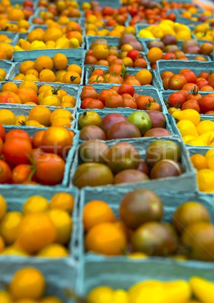 Pomodori locale mercato verde rosso Foto d'archivio © iko