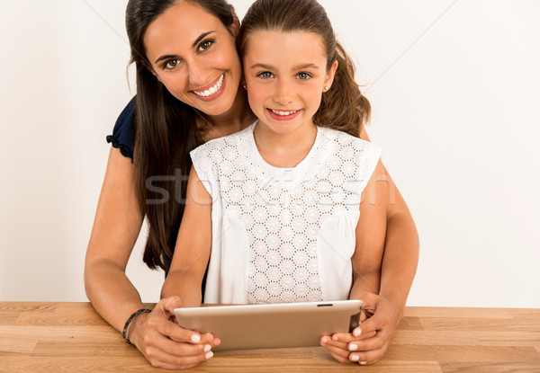Helping with homework Stock photo © iko