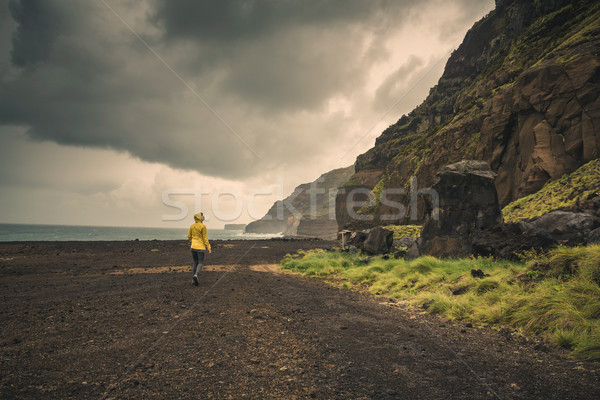 Walking over a wild beach Stock photo © iko
