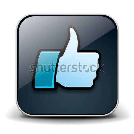Thumbs up button - like icon. Stock photo © ikopylov