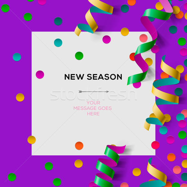 New season invitation template with party confetti Stock photo © ikopylov