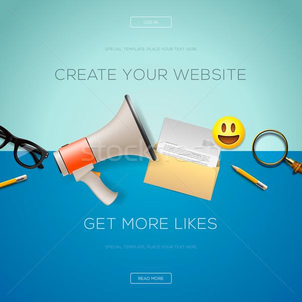 Szett modern terv ikonok internet marketing weboldalak Stock fotó © ikopylov