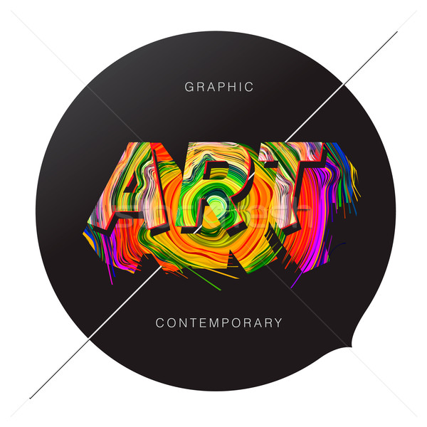 Contemporary Art abstract background Stock photo © ikopylov
