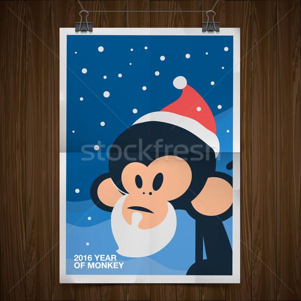 Happy New Year 2016 Greeting Card Stock photo © ikopylov
