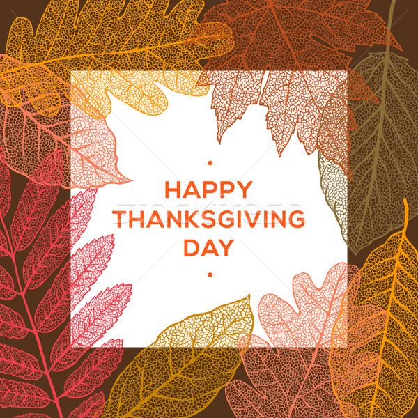 Happy thanksgiving day, autumn holiday background Stock photo © ikopylov