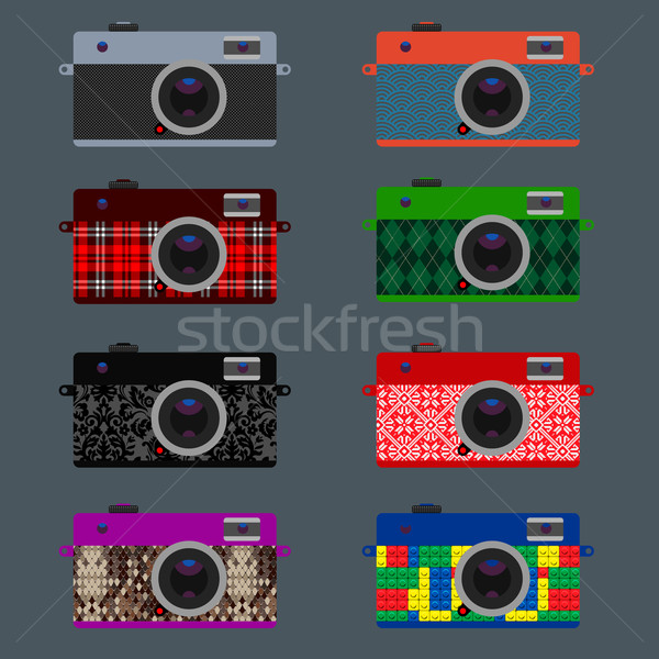Set of Retro Cameras, hipster style Stock photo © ikopylov