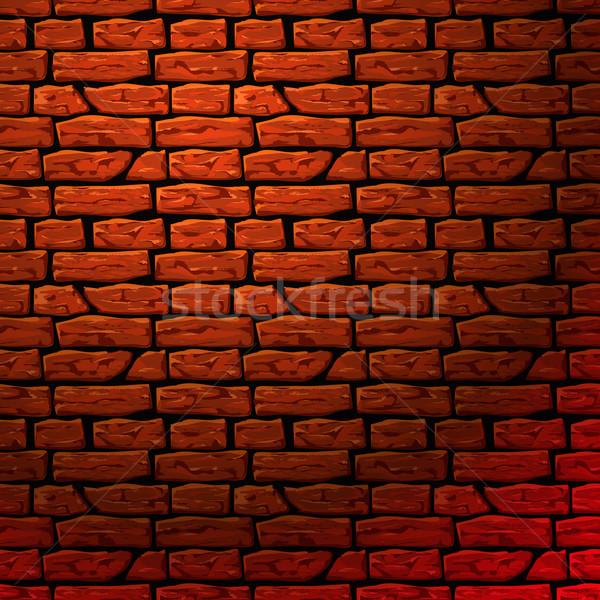 Parede de tijolos sem costura textura vetor eps10 ilustração Foto stock © ikopylov