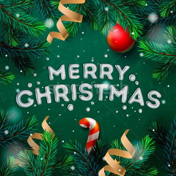 Alegre natal cartão decoração família Foto stock © ikopylov