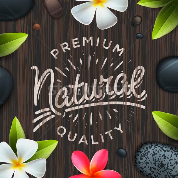 Natural premium quality label, spa concept Stock photo © ikopylov