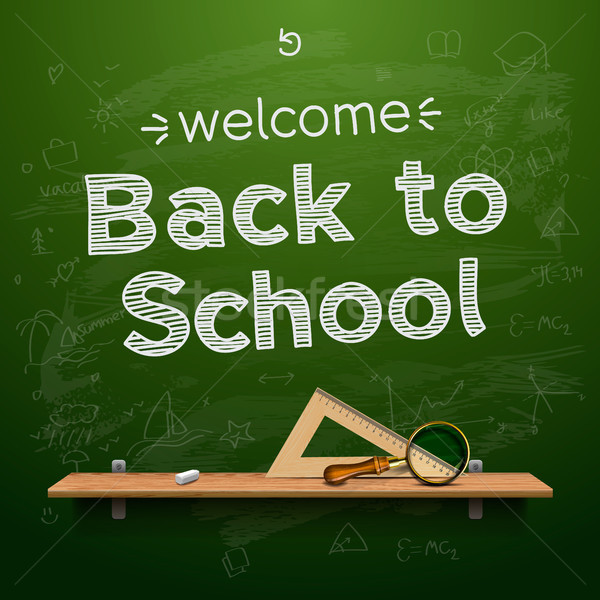 Stock photo: Back to school background