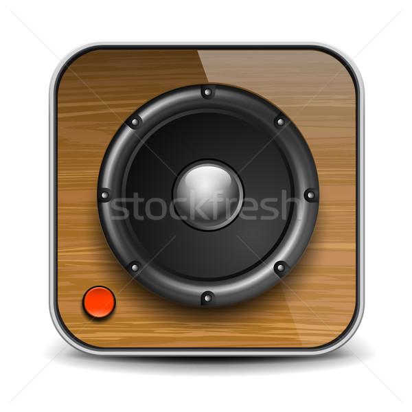 Audio hangszóró ikon vektor eps10 illusztráció Stock fotó © ikopylov