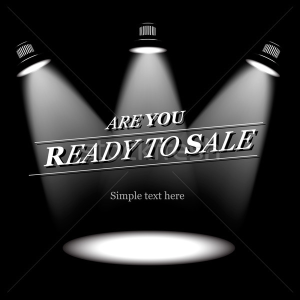 Ready to sale, vector background Stock photo © ikopylov