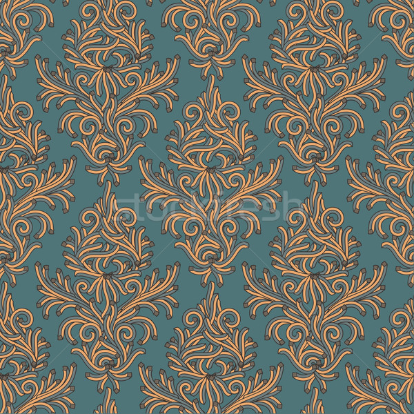 Seamless floral pattern in the style of Damascus Stock photo © ikopylov