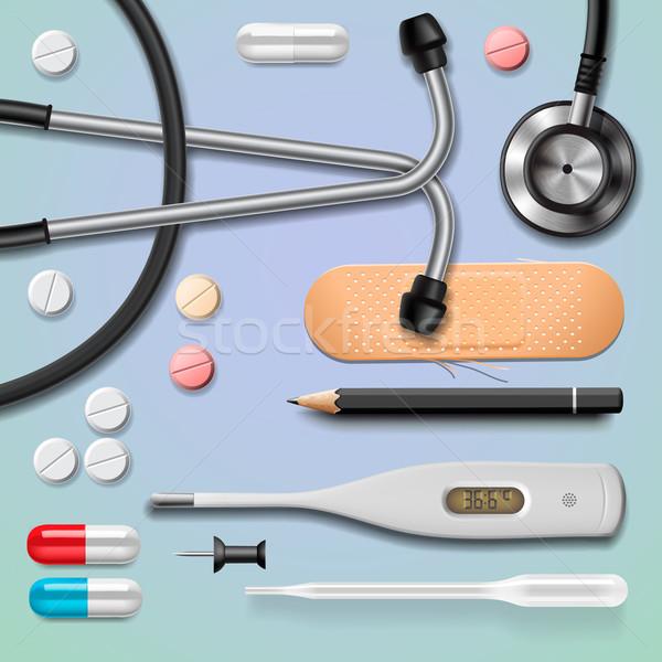Medische apparatuur geïsoleerd vector eps10 afbeelding kruis Stockfoto © ikopylov